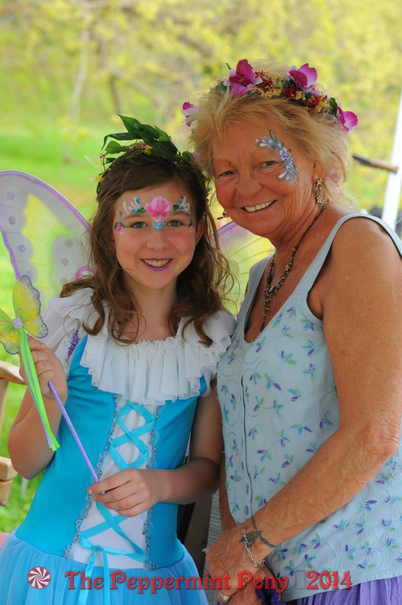 Butterfly face painting is popular for all ages. by Angela Cichetti Deppe