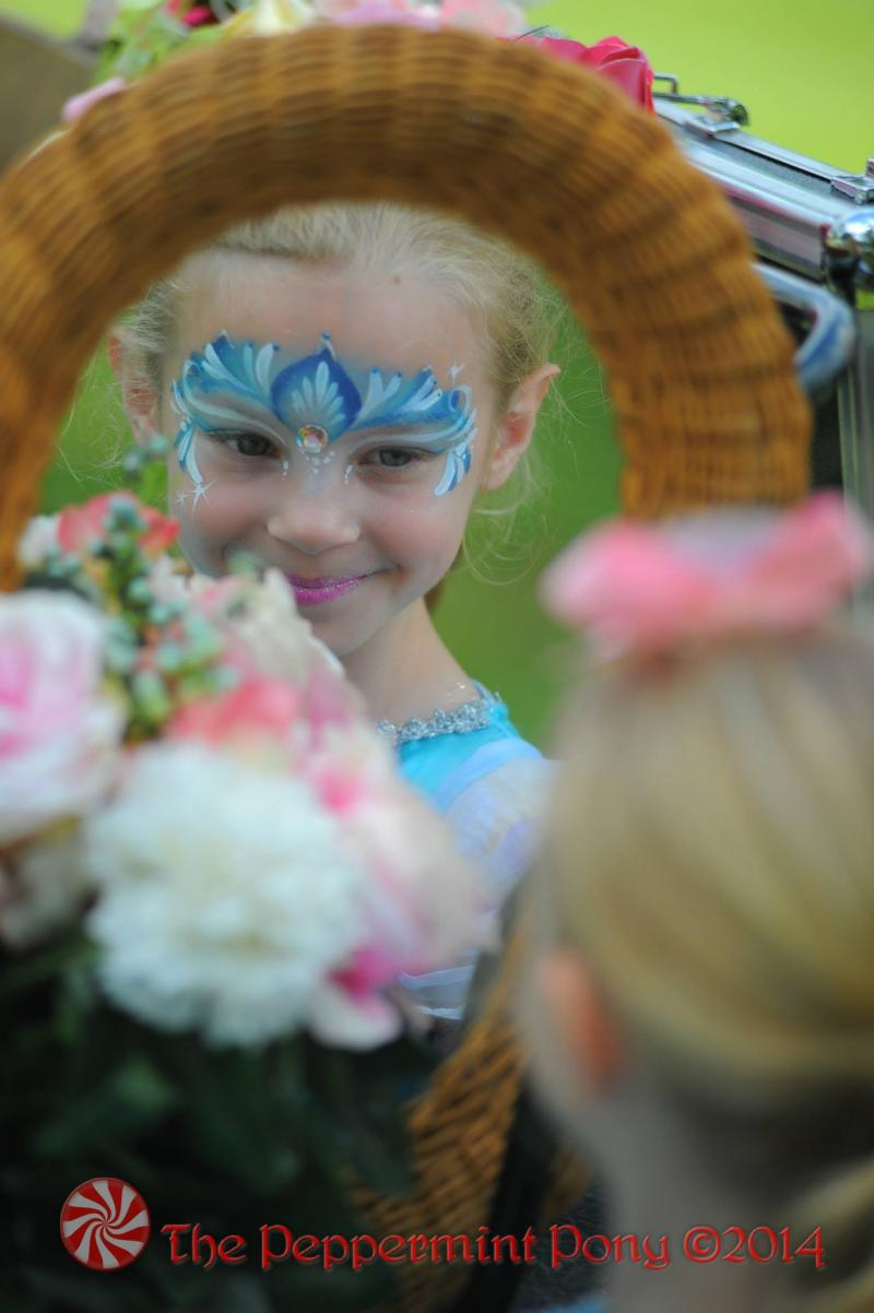 Frozen face painting - our Elsa crowns are a very popular choice in Columbia MD