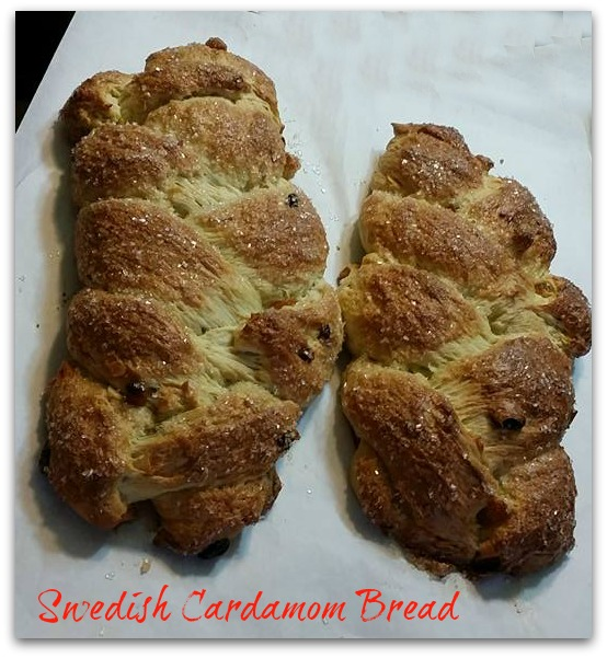 Swedish Cardamom bread now at The Pink Cabbage