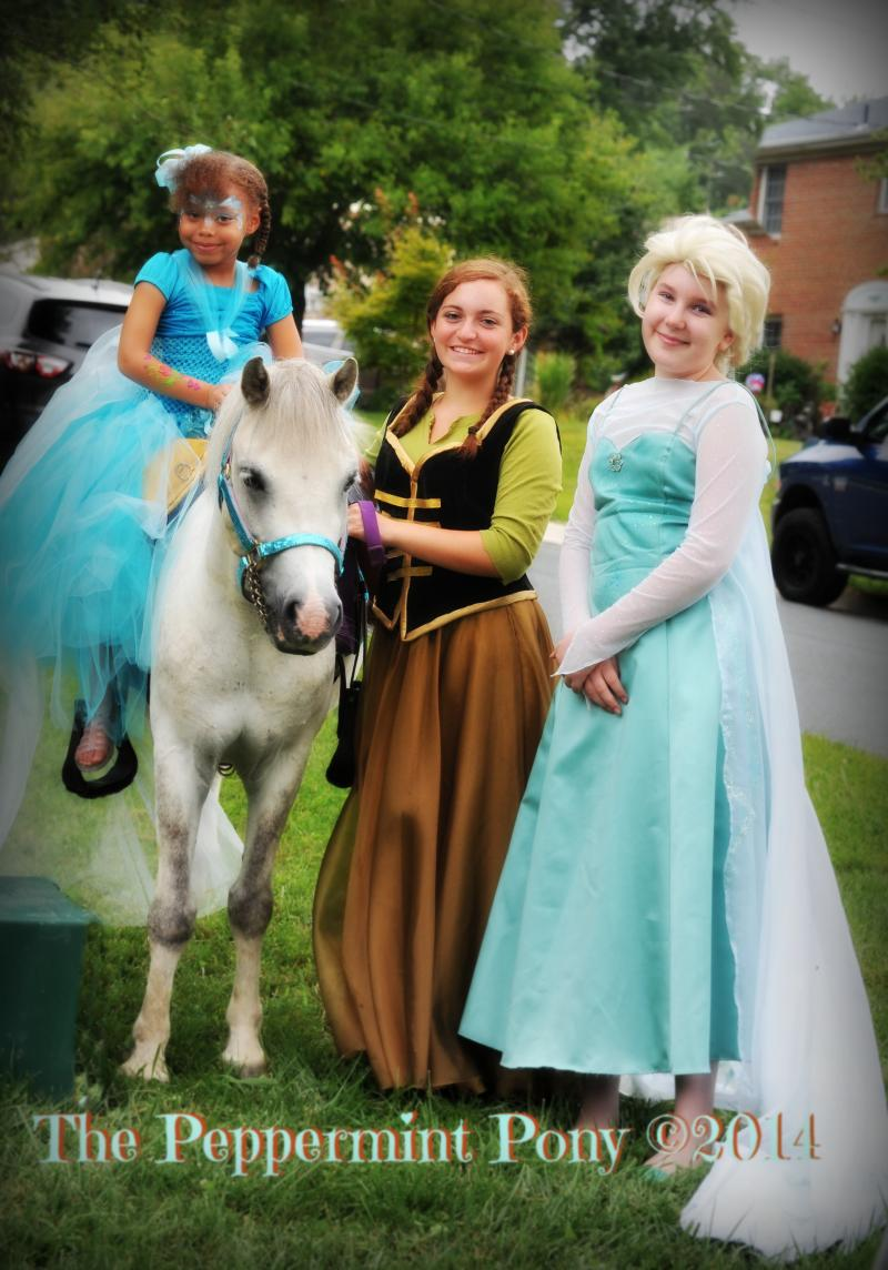Have The Peppermint Pony for your Frozen themed party, Anna and Elsa are ready