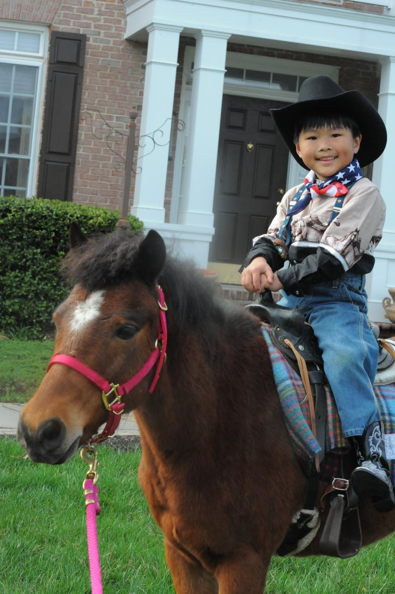 Urban Cowboy Jesse James rustling steers for The Peppermint Pony