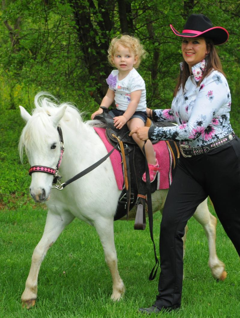 The Peppermint Pony Pink Cowgirl Party, with Sparkle Plenty our White Pony