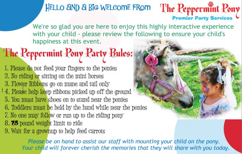 Peppermint Pony Party Rules